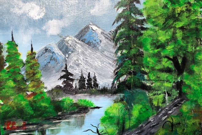 Selling: A Mountain's Summit | Acrylic Painting