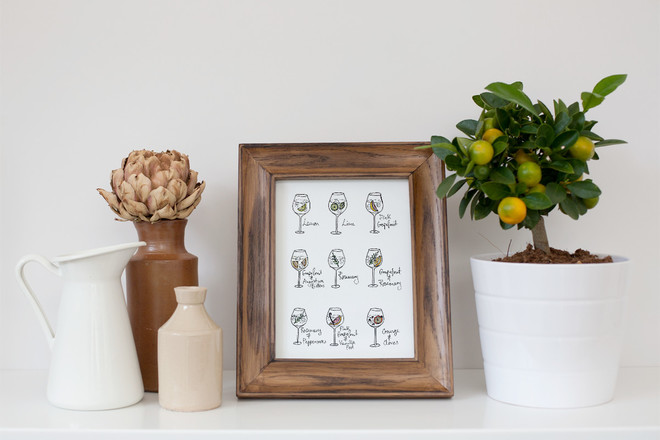 Selling: 'Gin Garnishes' Watercolour Print
