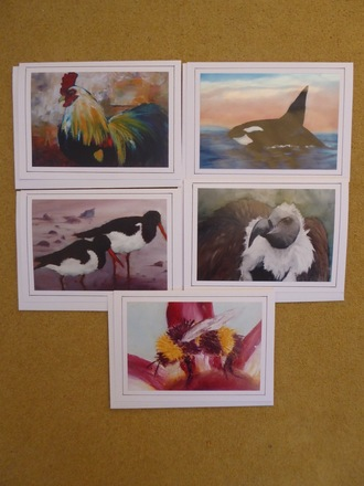 Selling: Set of 5 artist greeting cards contemporary.