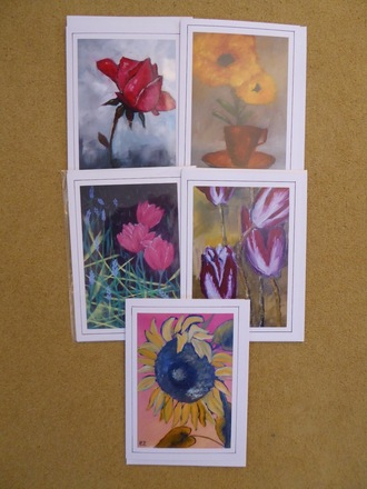 Selling: Set of 5 artist greeting cards contemporary style
