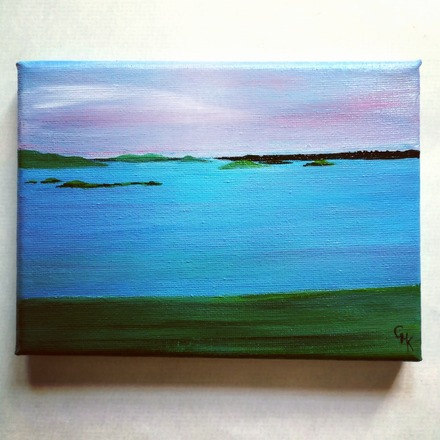 Selling: Isles of Scilly | Original Acrylic Seascape Painting