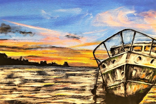 Selling: Boat and Sunset