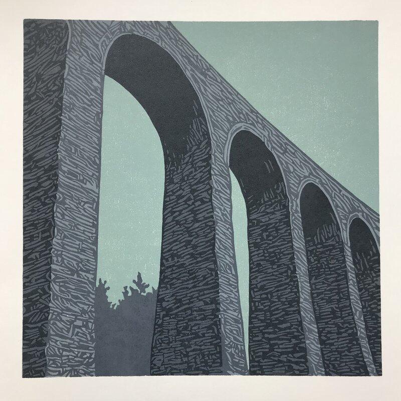 Cynghordy Viaduct at Dusk