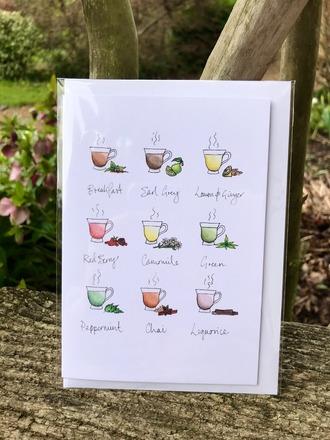 Selling: 'Cups of Tea' Greetings Card