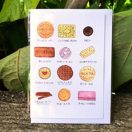 Selling: 'Biscuits' Greetings Card