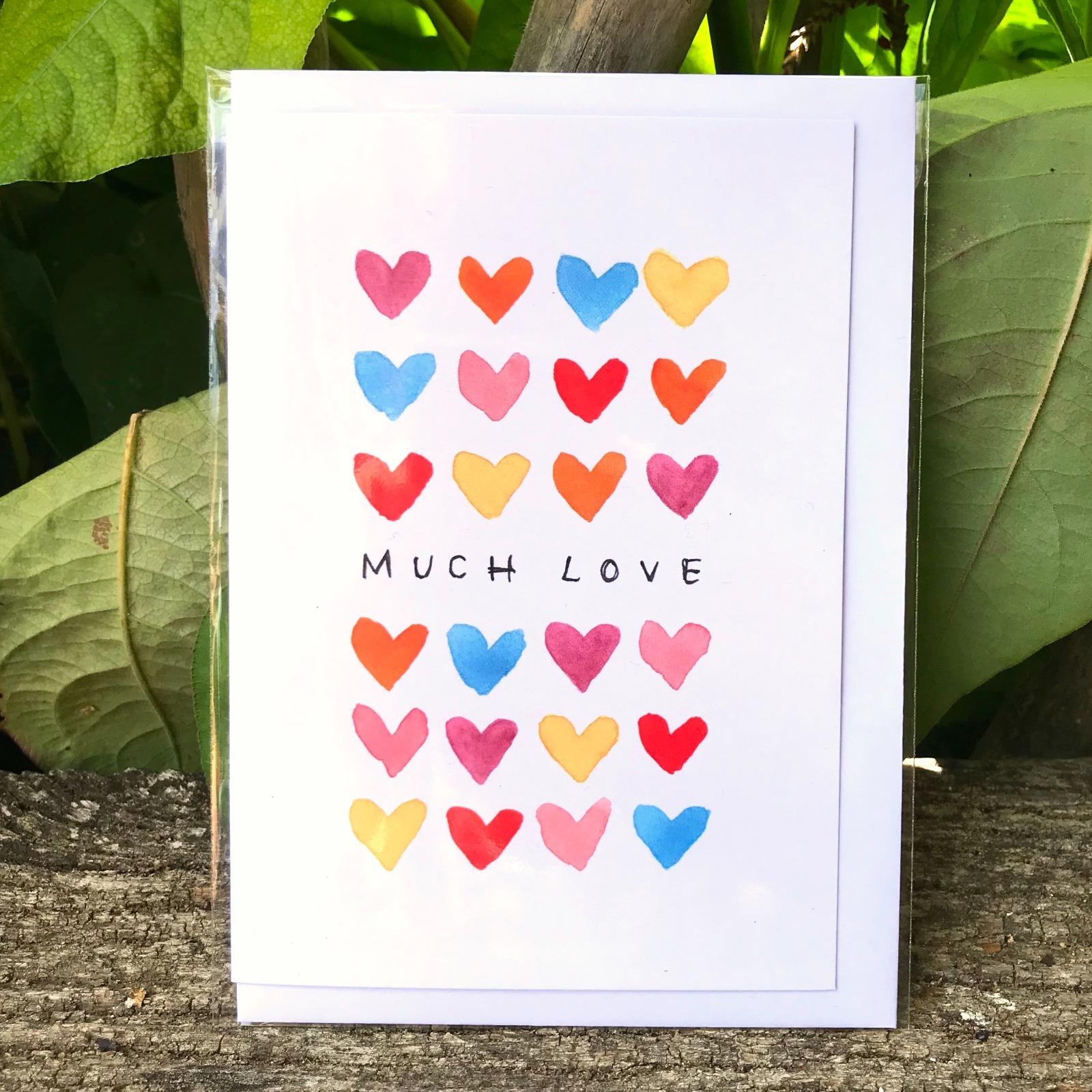 'Much Love' Greetings Card