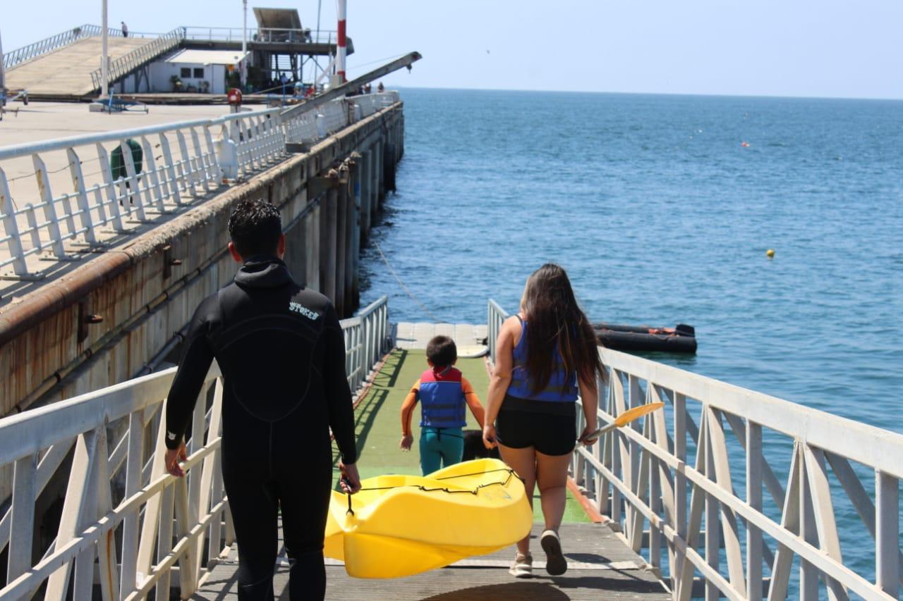 Kayak en la Lobera de Valparaíso
