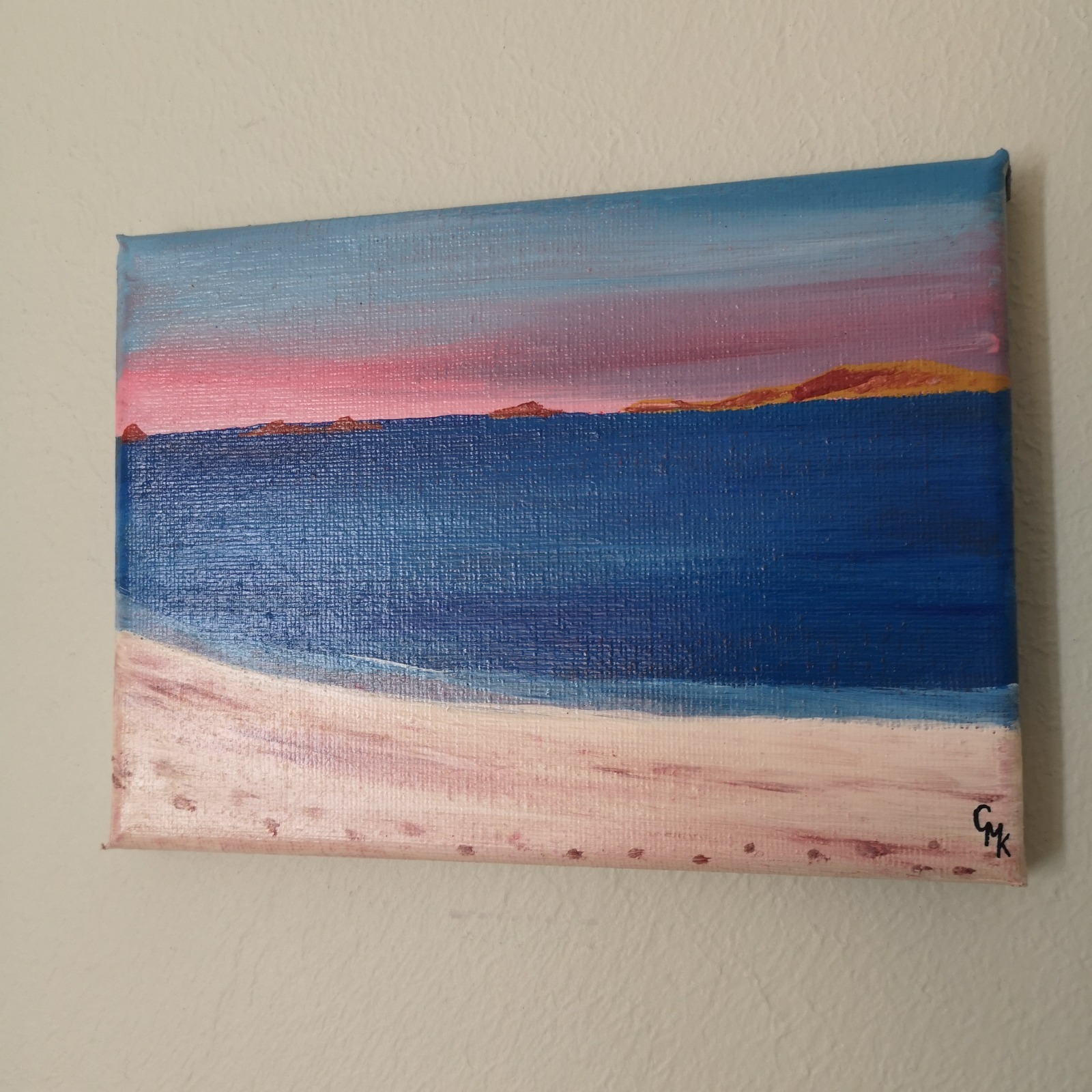 Scilly Sunset | Original Acrylic Seascape Painting