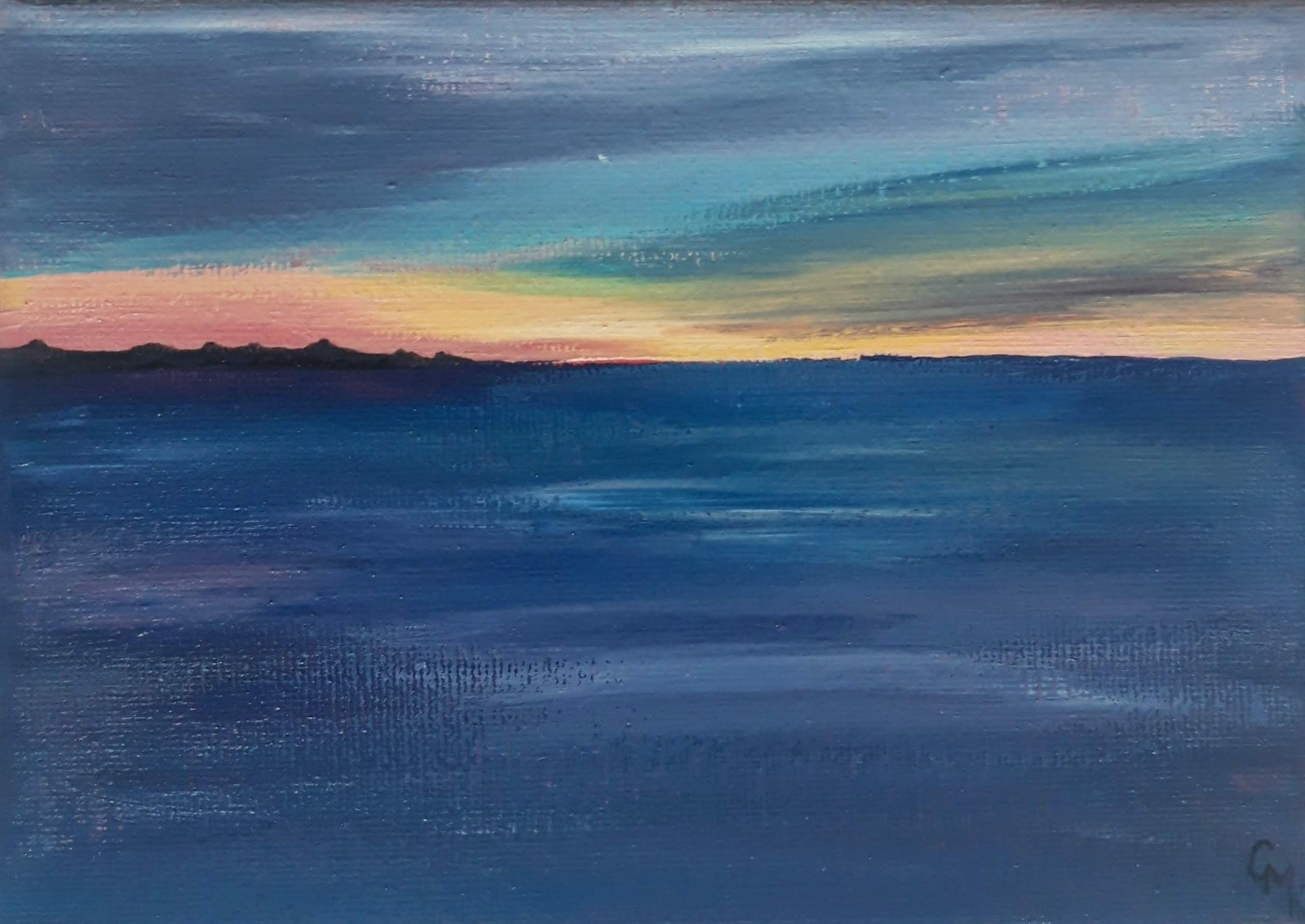 Annet Island Captured in the Sunset | Original Acrylic Painting
