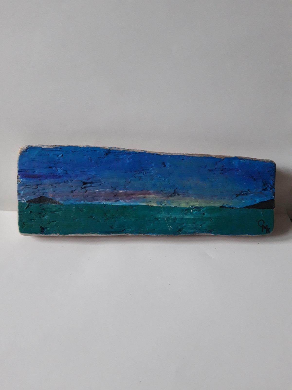 Crantock Bay Driftwood Art   Original Painting