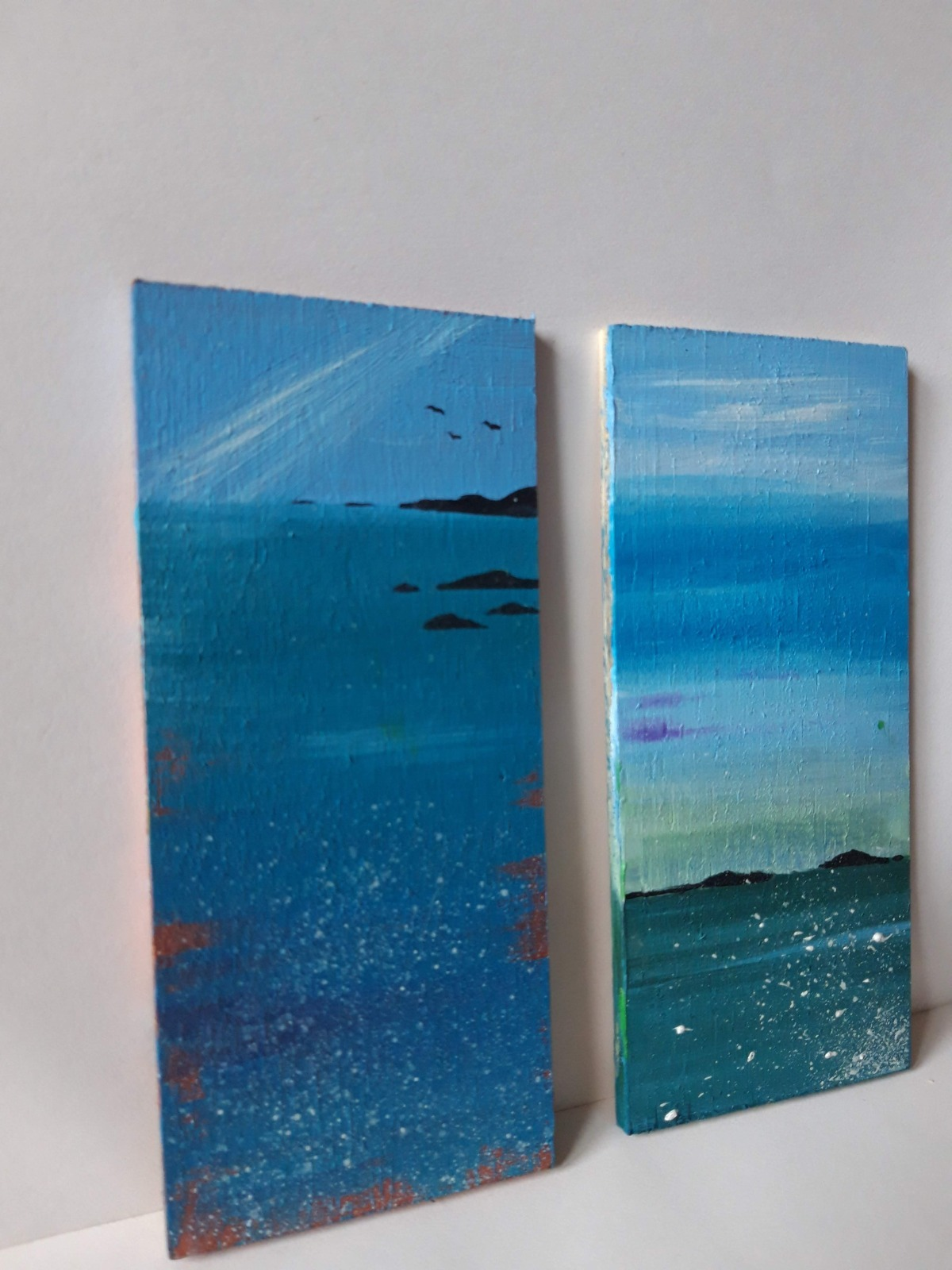 Seascapes on Wood   Original Painting