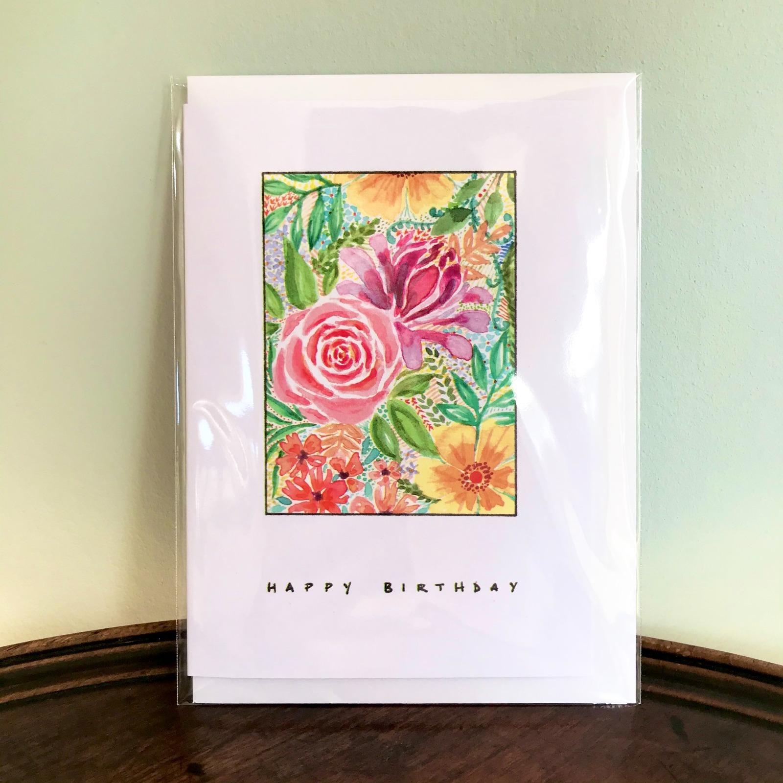 'Birthday Flowers' Greetings Card