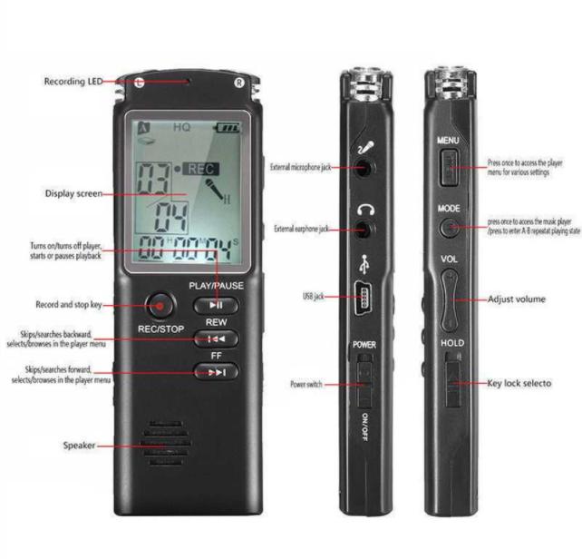Дуу хураагуур/voice recorder зарна. Үнэ: 120,000₮ Утас: 88512938