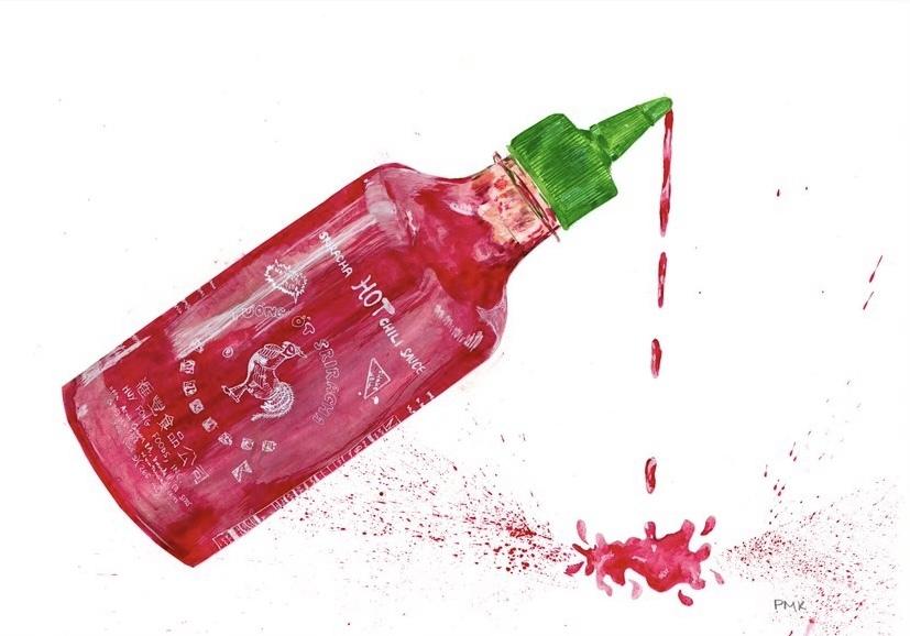 Sriracha A4 landscape Giclée print