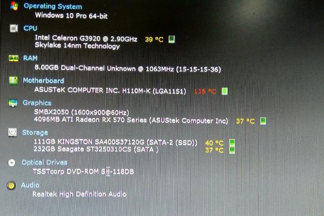 ХУДАЛДАХ: G3920 CPU processor