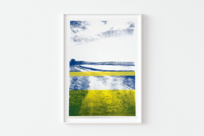 Selling: The Gallops Blue with Yellow Earth #2