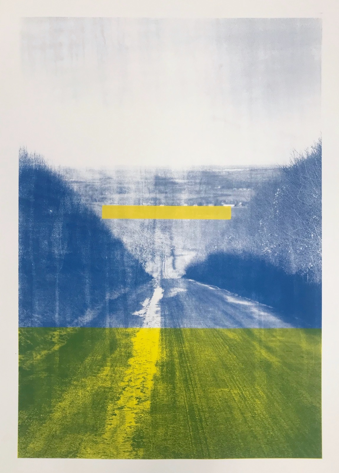 Britwell Hill: Blue with Yellow Spacer