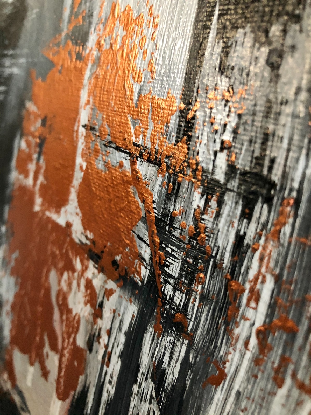 'Favilla et Cinere' large abstract acrylic painting