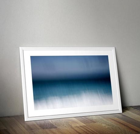 Selling: In Blue - Sennen I  / Abstract Cornish Seascape / A3 Print