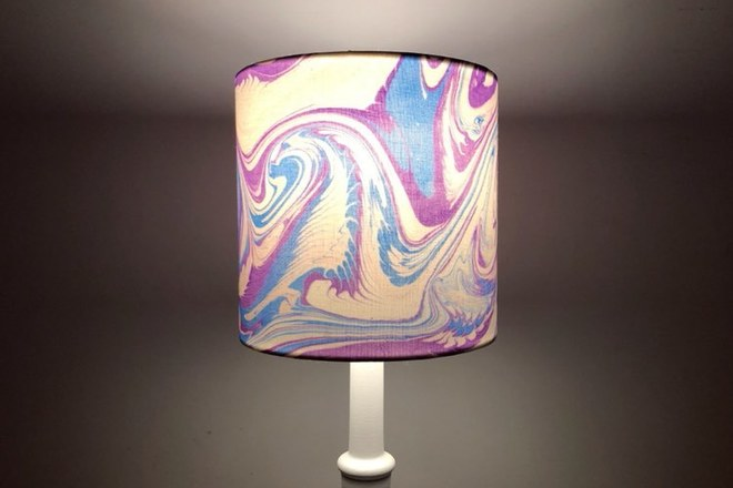 Selling: Handmade Marbled Lampshade