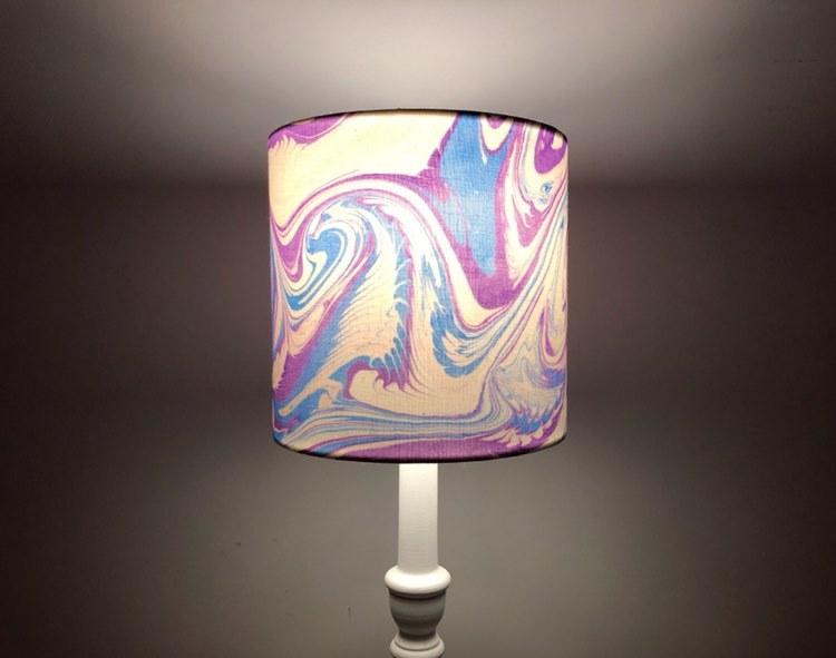 Handmade Marbled Lampshade