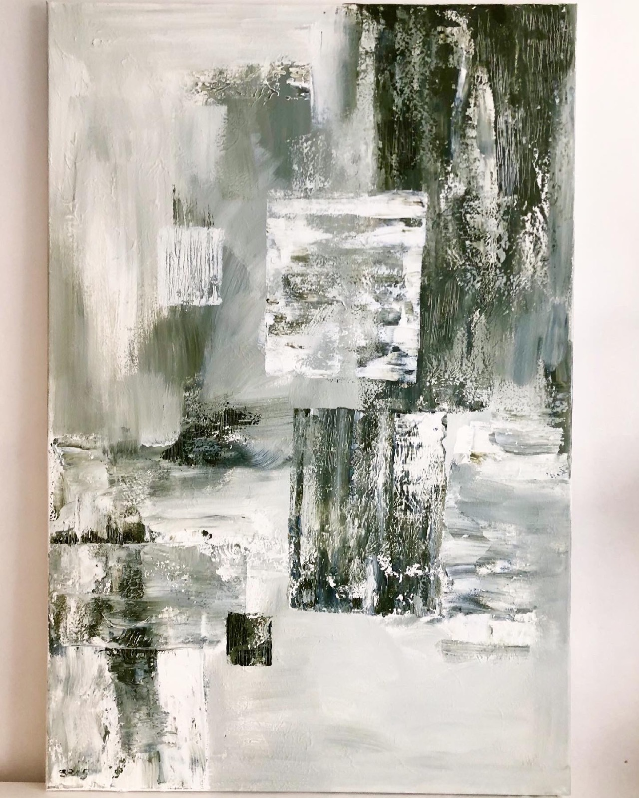 'Searching for Calm' Large abstract acrylic painting