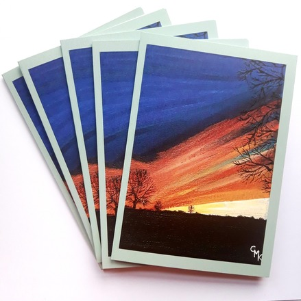 Selling: The Downs Sunset, Bristol | Pack of 5 Greeting Cards
