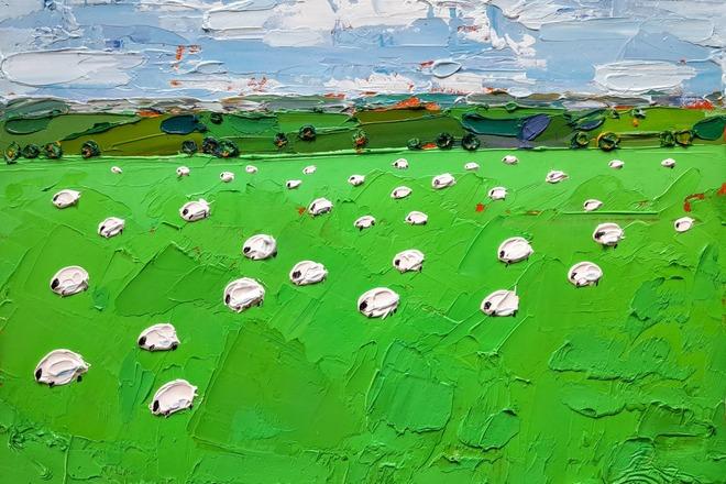 Through the sheep field