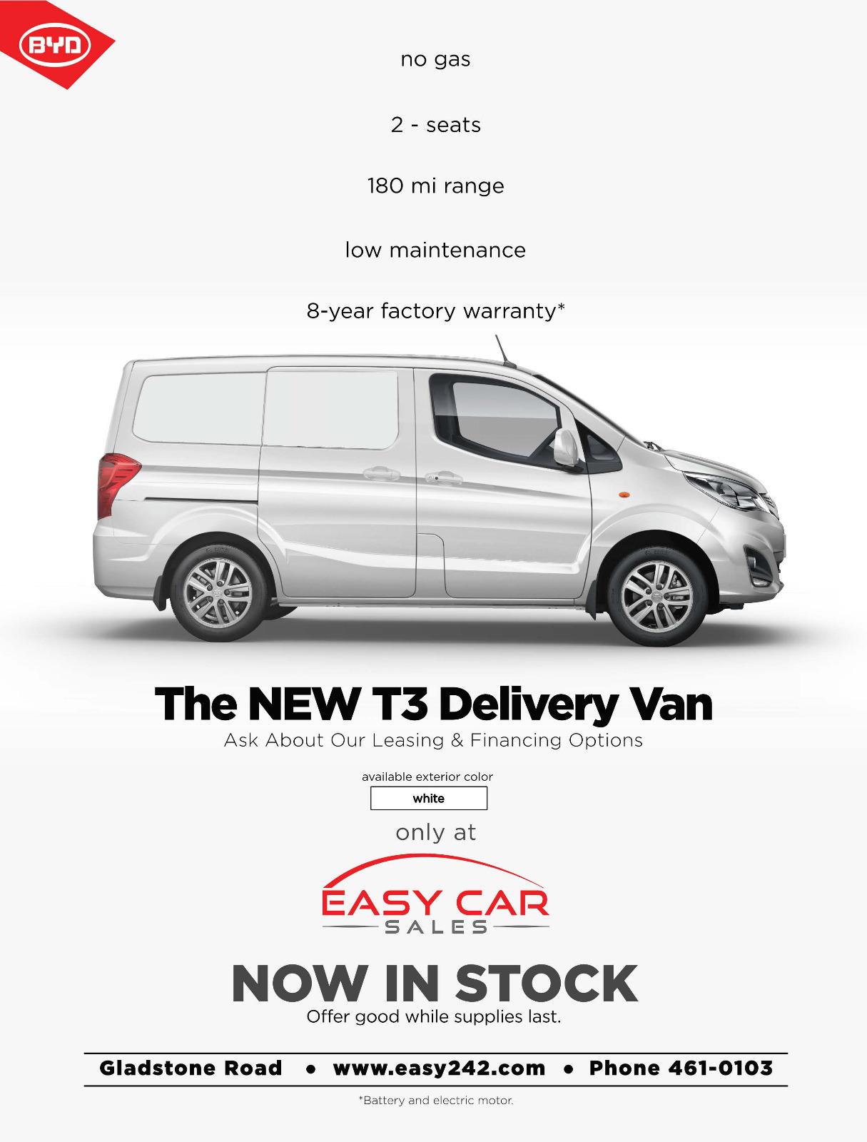BYD T3 EV Cargo Van - Electric Vehicle