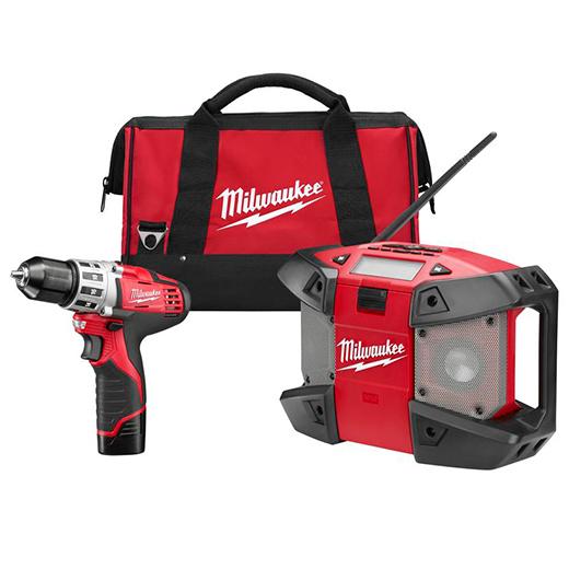 3/8-Inch Drill Driver and Radio