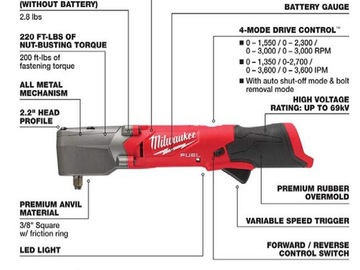 Sell: 3/8 in. Right Angle Impact Wrench