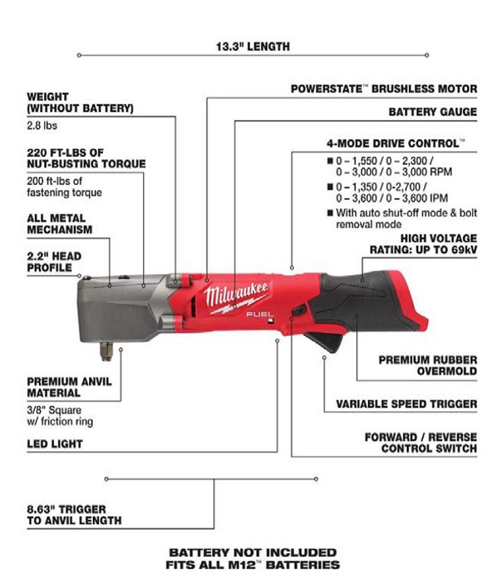 3/8 in. Right Angle Impact Wrench