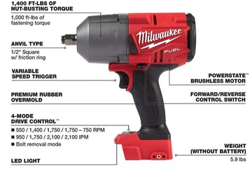 Sell: 1/2 in. Impact Wrench