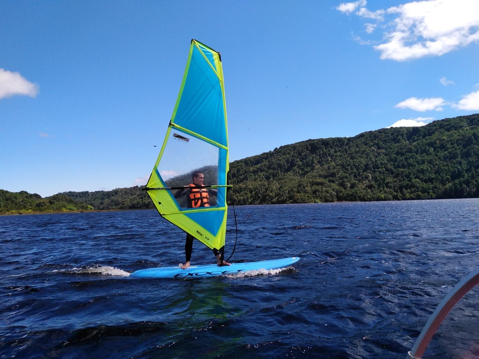 Clase de Windsurf en Chiloé