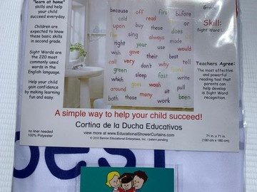 Sell: Educational Shower Curtain