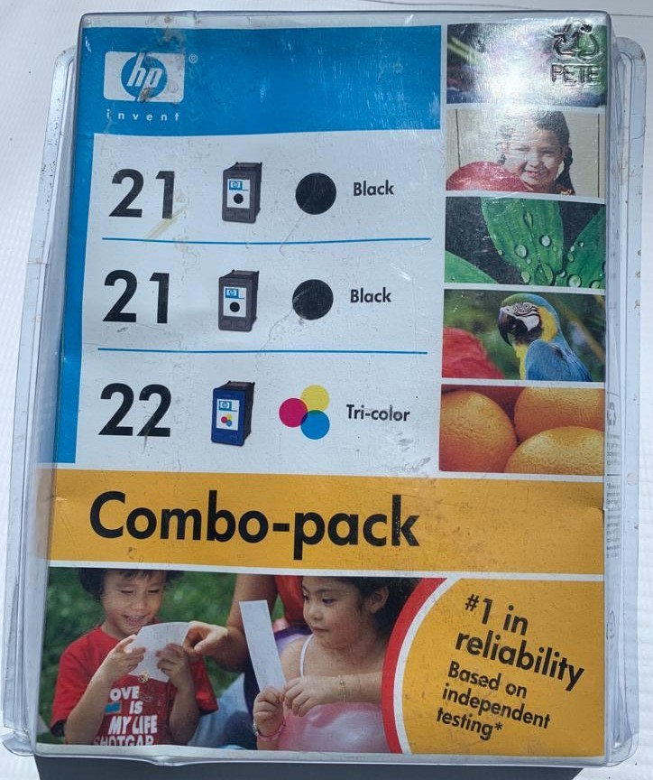 HP 21/22 Black/Tricolor Ink Cartridges