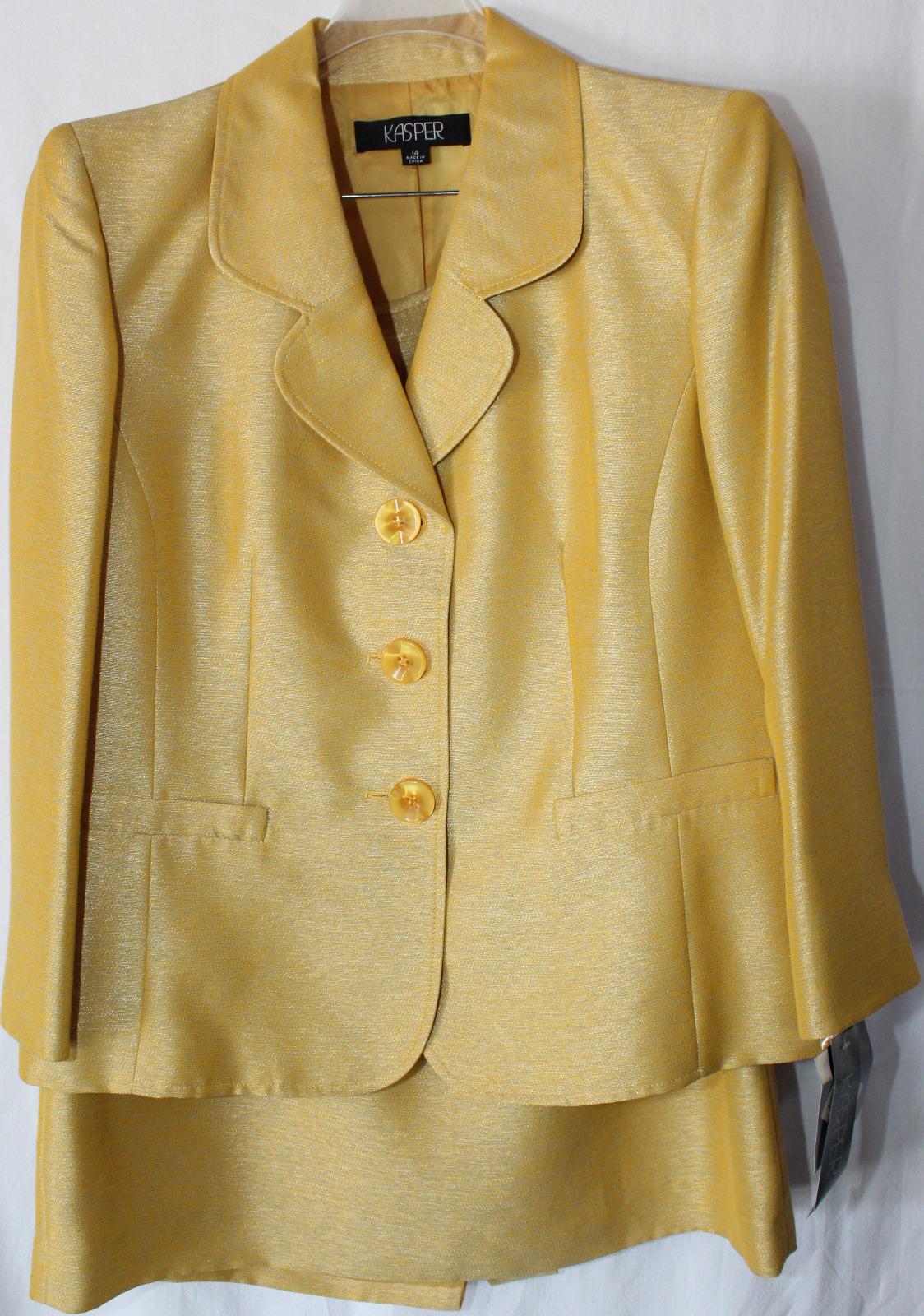 Gold Kasper Suit (size 14)