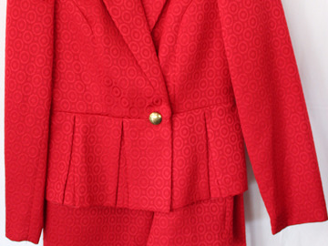 Ruby Red Signature Suit (size 12)