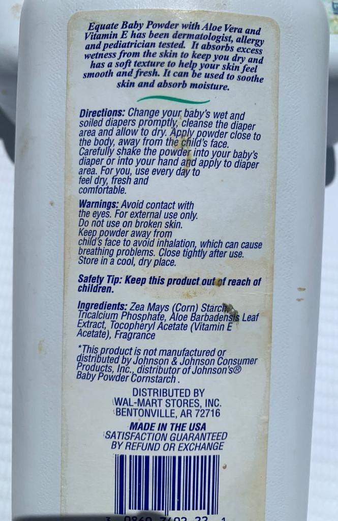 Equate Baby Powder (qty 2)