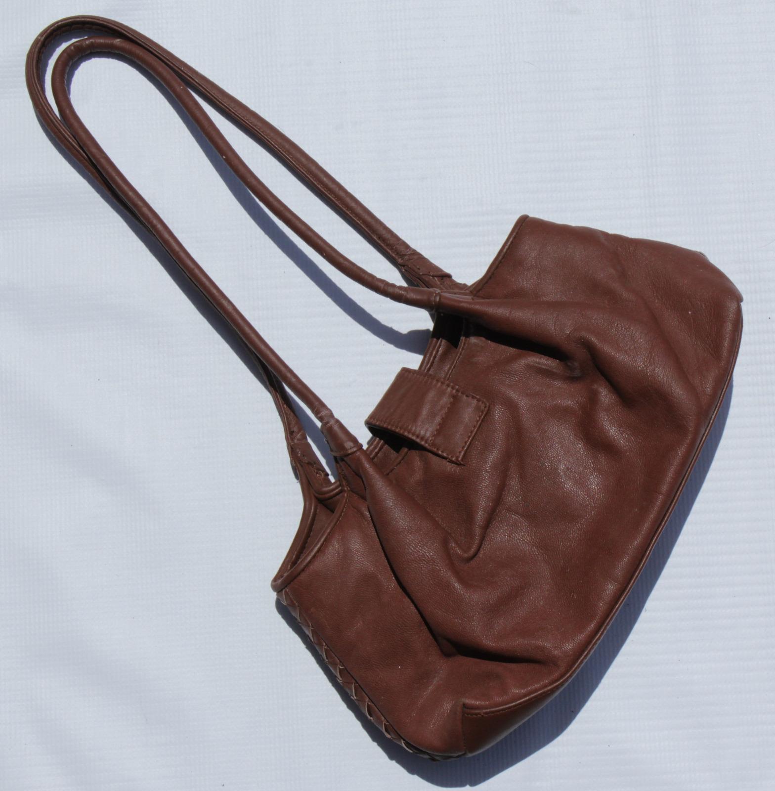 Brown Textured Purse