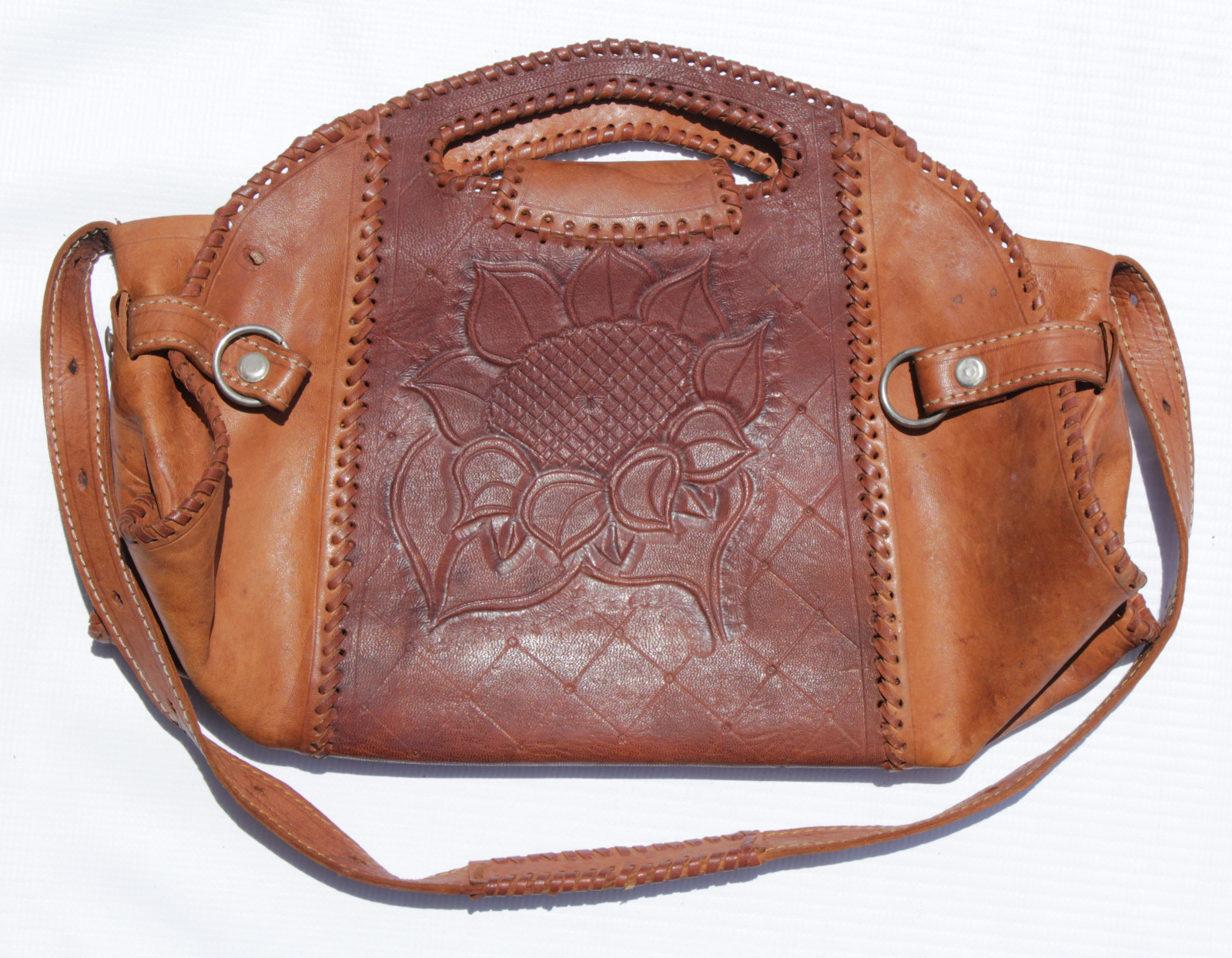 Two Toned Leather Handbag