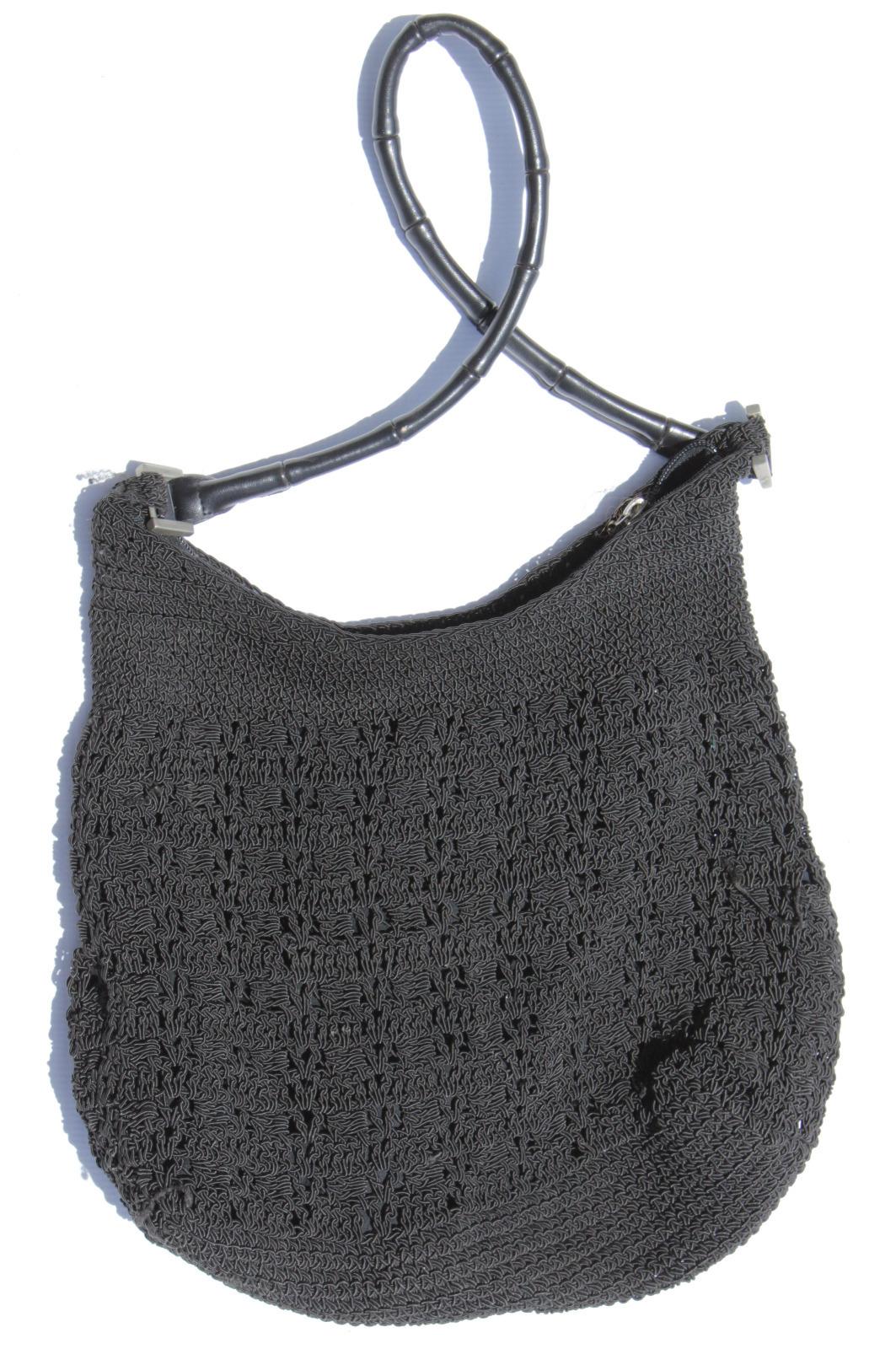 Black Netted Handbag