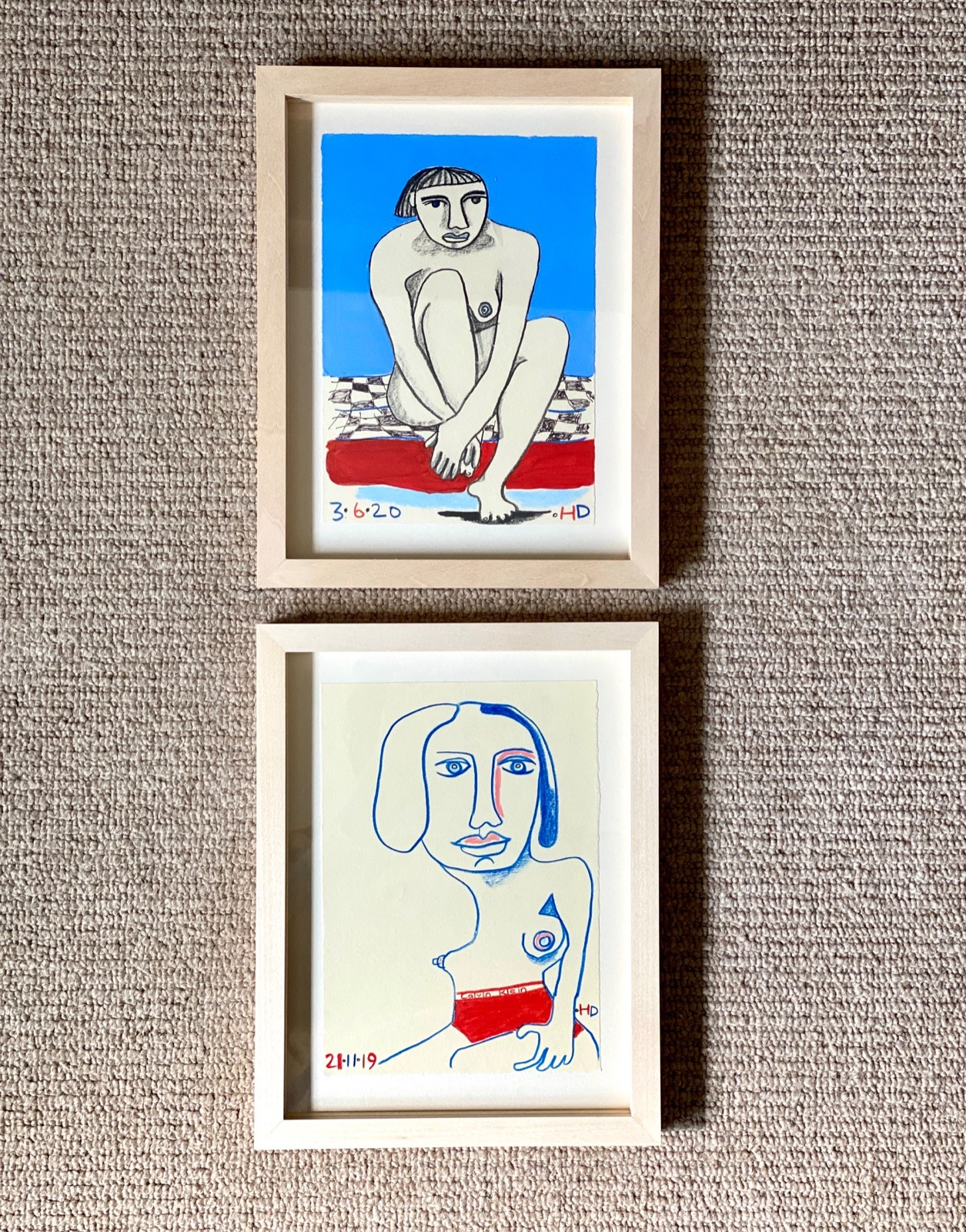 Delightful pair of paintings by Henrietta Dubrey