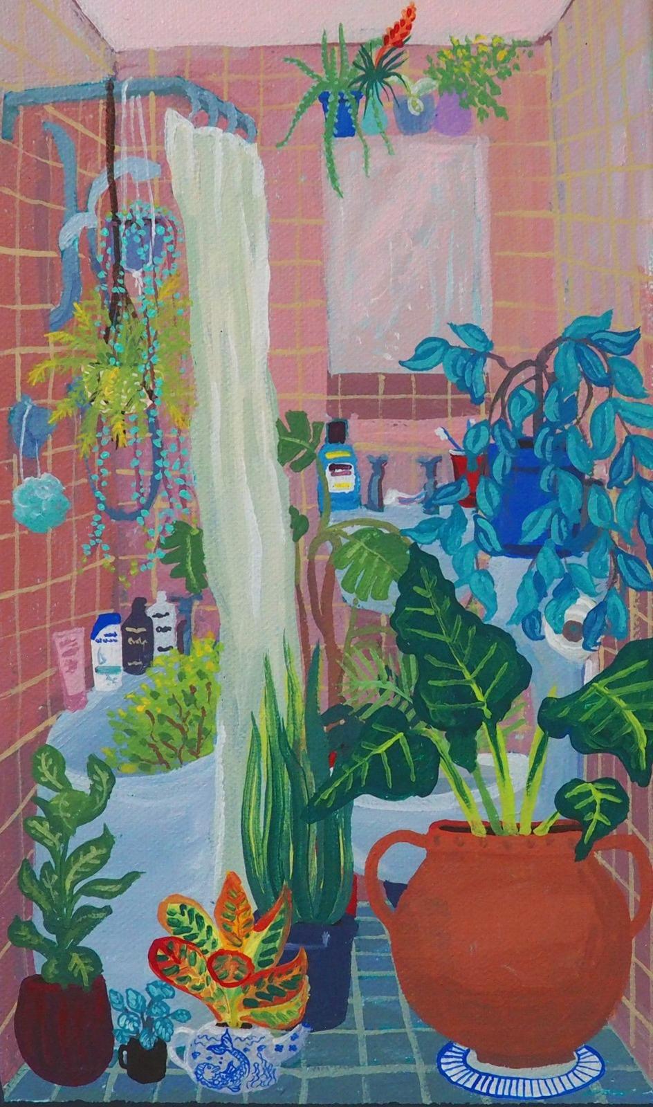 Interior Jungle Print, A5