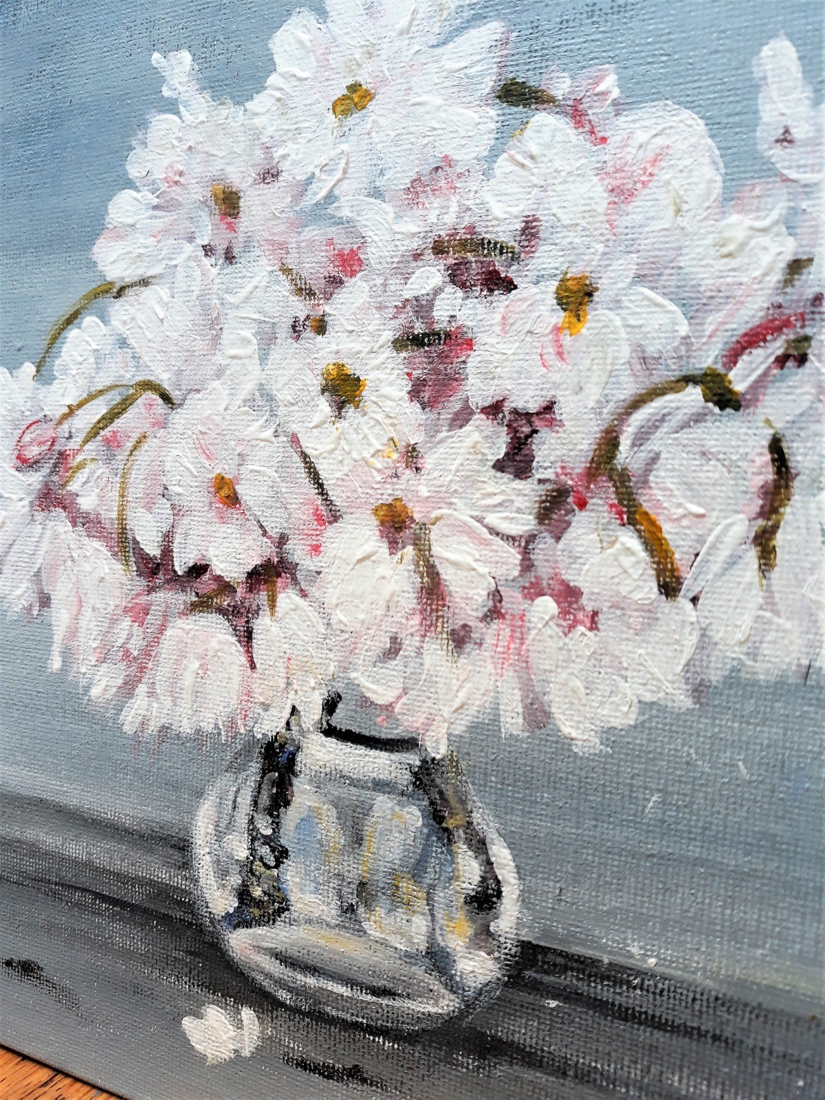 Cherry Blossoms in Glass Vase