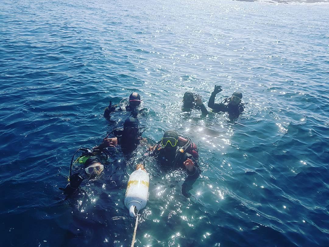 Bautizo de buceo en Papudo