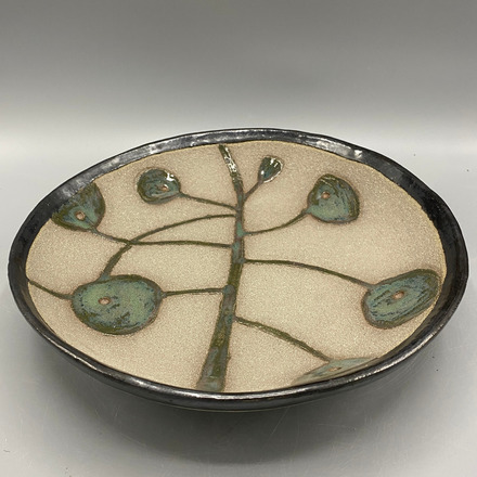 Selling: Pretty hand-built stoneware fruit bowl