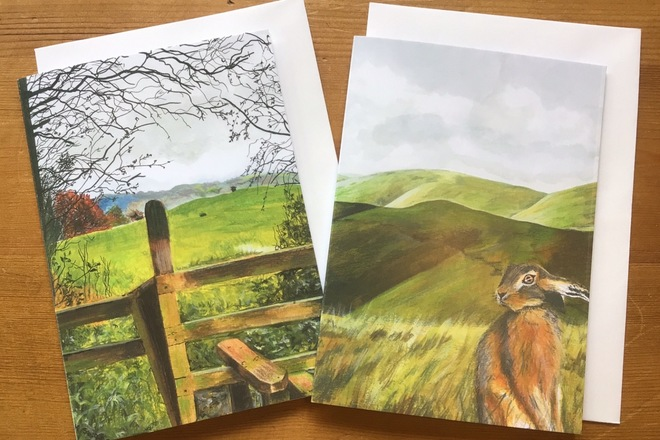 Selling: Pair of countryside greetings cards