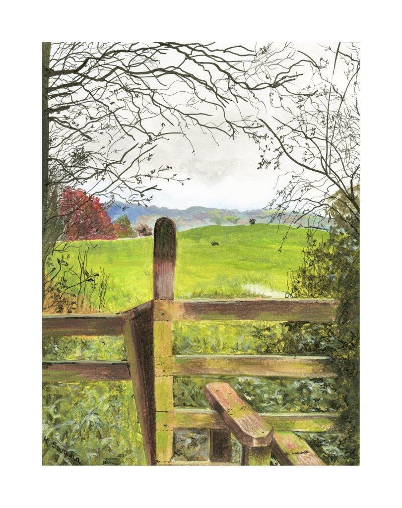 Pair of countryside greetings cards