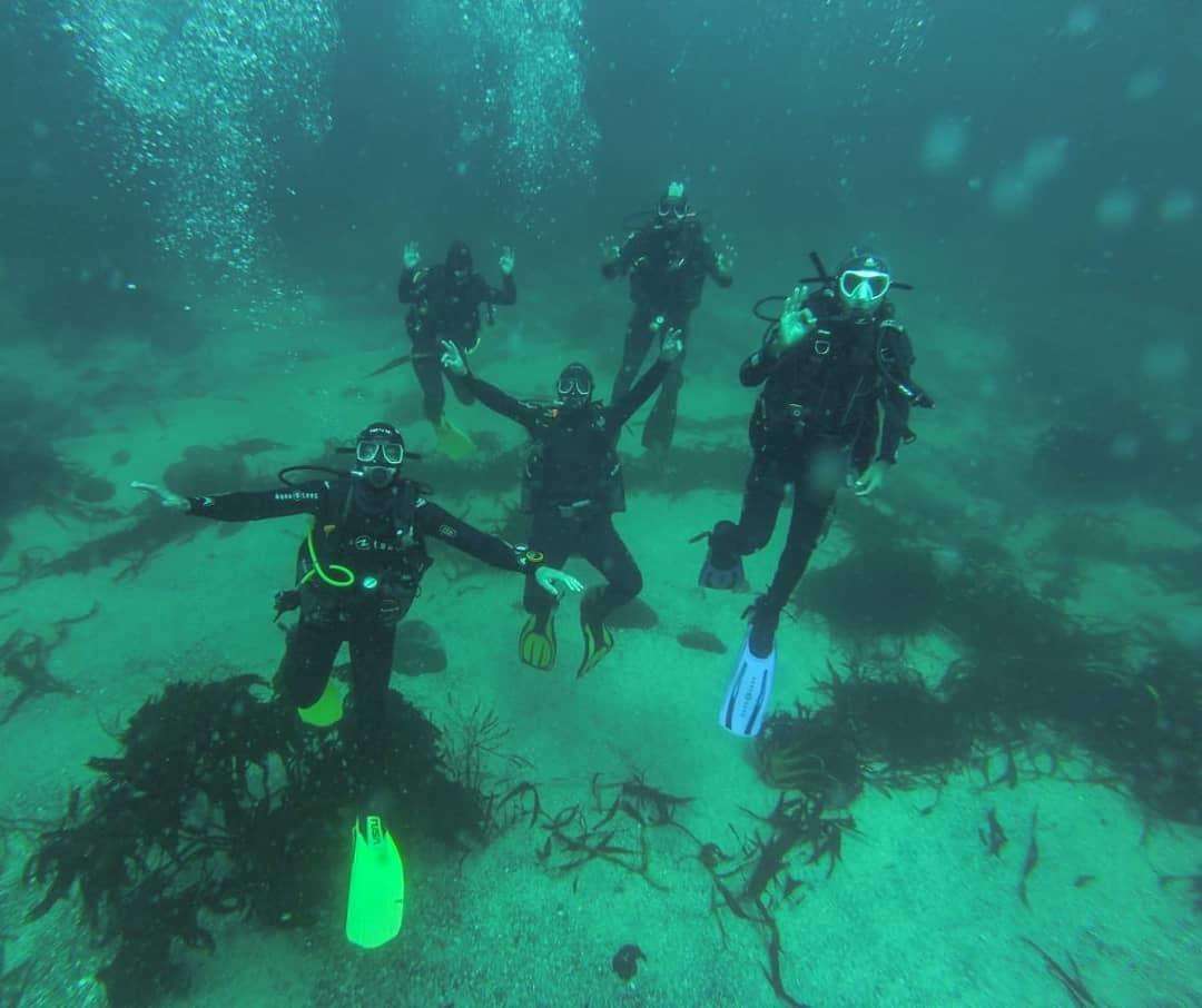 Bautismo submarino - Iniciación de buceo en Quintay